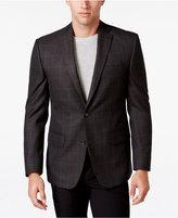 MICHAEL Michael Kors Men's Classic-Fit Brown Plaid Sport Coat