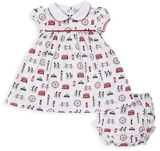 Kissy Kissy Baby Girl's London Marching Band 2-Piece Print Dress & Bloomers Set