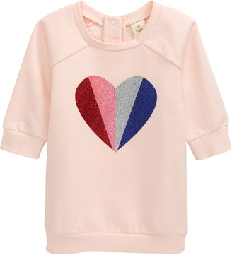 Tucker + Tate Glitter Heart Fleece Dress