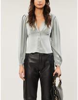 Frame Empire silk-satin blouse