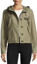 Rag & Bone Laurel Cropped Parka Jacket, Army Green
