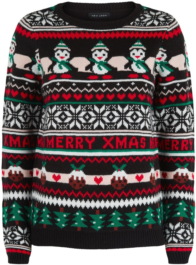 Thumbnail for your product : New Look Fair Isle Christmas Jumper