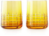 Christofle Graphik Stemless Goblets, Set of 2, Amber