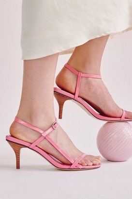 Jaggar STRAPPY PATENT SANDAL candy pink