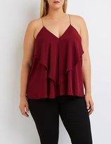 Charlotte Russe Plus Size Chain Strap Ruffle Tank Top