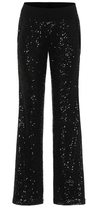 Balmain Sequined low-rise straight pants