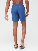 adidas 3 Stripe Swim Shorts - Navy