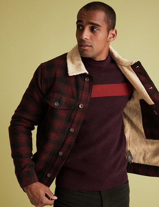 Marks and Spencer Wool Borg Lined Jacket