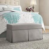 Wayfair Custom Upholstery Ariana Upholstered Storage Bench Body Fabric: Duck Grey