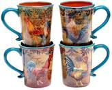 Certified International Rustic Rooster 4-pc. Mug Set