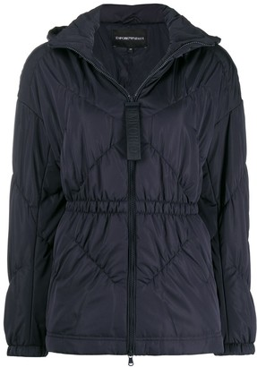 Emporio Armani Hooded Fitted Jacket
