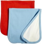Baby Soy Oh Soy Burp Cloths Set - Sky & Tomato - 2 ct