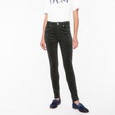 Paul Smith Women's Skinny-Fit Dark Green Corduroy Trousers