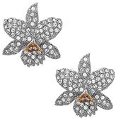Nina Women's Floral Crystal Stud Earrings
