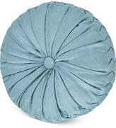 "J Queen New York Atrium Tufted 15"" x 2"" Round Decorative Pillow"