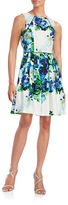 Vince Camuto Fit and Flare Floral Dress