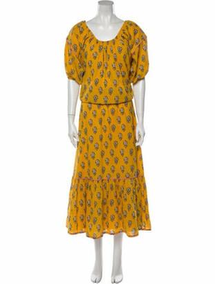 Rhode Resort Printed Long Dress Yellow Printed Long Dress