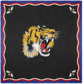 Gucci Tiger print modal silk shawl