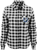 Juniors' Indianapolis Colts Buffalo Plaid Flannel Shirt
