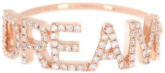 Ef Collection 14K Rose Gold Pave Diamond 'Dream' Ring - Size 6 - 0.21 ctw