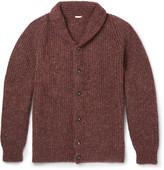 Massimo Alba - Shawl-collar Mélange Alpaca-blend Cardigan