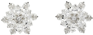 Magda Butrym Silver Crystal Stud Earrings