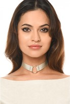 AX Paris Champagne Material With Gold Ring Choker