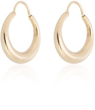 Fat Baby Snake gold vermeil earrings