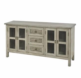Jorah 4-door 3-drawer Cabinet In Antique Grey-taupe Gracie Oaks