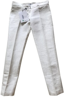 Pallas Ecru Linen Trousers for Women