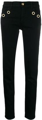 Class Roberto Cavalli eyelet low-rise jeans