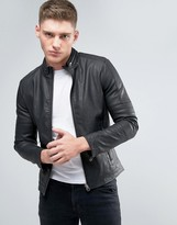 Lindbergh Faux Leather Jacket In Black