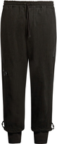 Y-3 Dropped-crotch washed cotton-jersey track pants