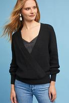 Astr Wrap-Front V-Neck Pullover