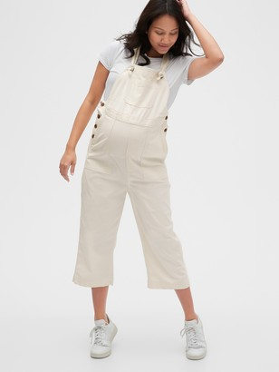 Gap Maternity Cropped Overalls in TENCEL Lyocell