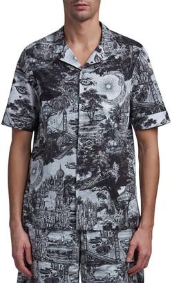 Valentino Men's Dreamatic Cotton Camp Shirt