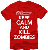 Chin Up Apparel Men's Tee Shirts Red - Red 'Keep Calm and Kill Zombies' Tee - Men