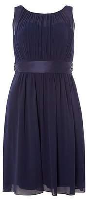 Dorothy Perkins Womens **Showcase Petite Navy Beth Prom Dress