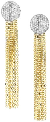 Phillips House Affair 14K Yellow Gold & Diamond Infinity Tassel Earrings