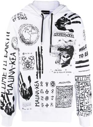 Mauna Kea Symbol Print Long Sleeve Hoodie
