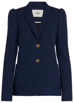Fendi Cashmere Puff Sleeve Blazer