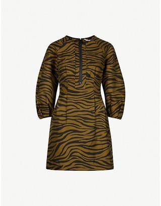 Veronica Beard Navi cotton and silk-blend mini dress