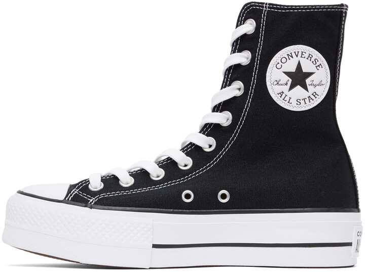 Thumbnail for your product : Converse Black Platform Chuck Taylor All Star High Sneakers