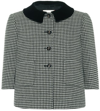 Gucci Houndstooth stretch-wool jacket