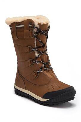 BearPaw Desdemona Genuine Sheepskin Lined Lace-Up Boot