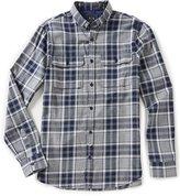 Armani Exchange Plaid Flannel Long-Sleeve Woven Shirt