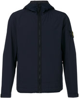 Stone Island zip up waterproof jacket - men - Cotton/Polyamide/Polyester/Resin - L