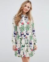 Vero Moda Drop Waist Floral Shirt Dress