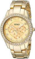 XOXO Women's XO5475 -Tone Bracelet With Rhinestones Accent Bezel Watch