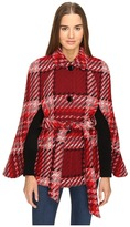Kate Spade Chunky Plaid Cape Women's Clothing